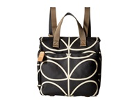 Orla Kiely Small Backpack Liquorice Backpack Bags Brown