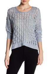 Inhabit Weekend Linen And Cashmere Blend Pullover Sweater Blue