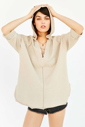 Ecote Beach Comber Hooded Top Light Brown