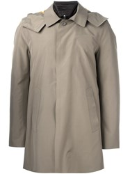 Kiton Detachable Lining Raincoat Men Goose Down Polyimide 52 Green
