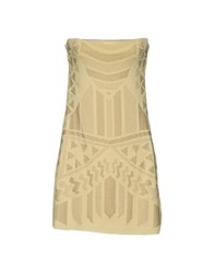 Met Short Dresses Beige