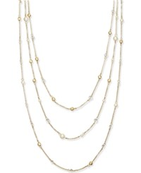 Charter Club Gold Tone Beaded Three Layer Necklace Only At Macy's