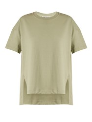 Acne Studios Piani Cotton Jersey T Shirt Light Green