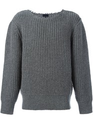 Lanvin Military Stitch Crew Neck Grey