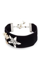 Marc Jacobs Martini Star Velvet Choker Necklace Black Multi