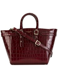 f0816d3e0e Aspinal Of London Double Handle Tote Bag Red