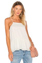 Three Eighty Two Hayden Ruffle Tank Ivory