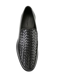 Bottega Veneta 'Anwick' Woven Loafers Black