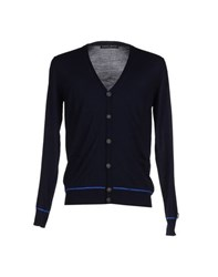 Frankie Morello Knitwear Cardigans Men Dark Blue