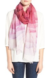 Nordstrom Women's Prismatic Color Play Cashmere And Silk Scarf Purple Combo