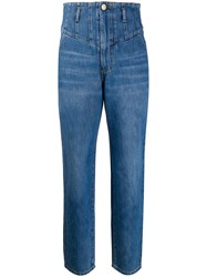 Pinko Denim High Waisted Tapered Jeans Blue