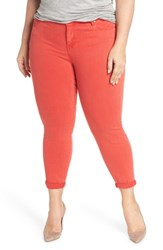 Liverpool Plus Size Women's Jeans Company Cami Cropped Skinny Jeans Ribbon Red