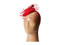 Scala Wool Felt Fascinator With Bow Red Caps