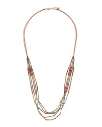 Nakamol Link And Bead Multi Strand Necklace Purple