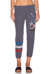 Lauren Moshi Peace Alana Crop Sweatpant Blue