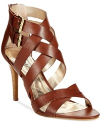 Rampage Katules Caged Sandals Women's Shoes Cognac