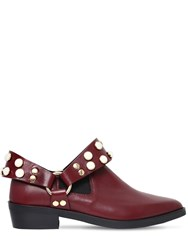 Coliac 30Mm Griet Embellished Leather Boots Bordeaux