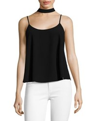 Design Lab Lord And Taylor Choker Strap Sleeveless Top Ivory