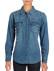Joe's Jeans Melani Denim Shirt Blue