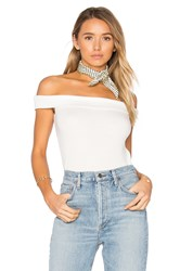 Rag And Bone Thermal Off The Shoulder Top White