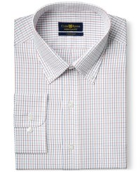 Club Room Big And Tall Wrinkle Resistant Red Ocean Grid Check Dress Shirt Only At Macy's