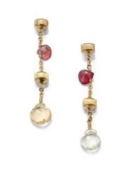 Marco Bicego Paradise Semi Precious Multi Stone And 18K Yellow Gold Drop Earrings