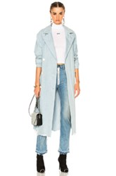 Alexander Wang Oversized Trench Coat In Blue
