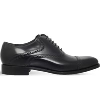 Barker Wilton Leather Oxford Shoes Black