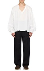 Burberry X Barneys New York Men's Cotton Poet Blouse White