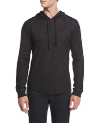 Vince Contrast Pullover Hoodie Coastal H Carbon