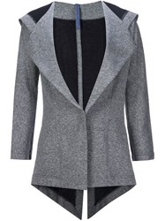 Nocturne 22 Nocturne 22 Hooded Blazer Grey