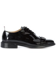 Thom Browne Bow One Piece Oxfords Leather Patent Leather Black