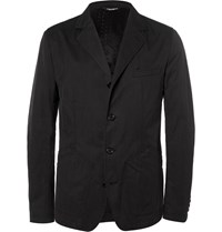 Dolce And Gabbana Black Slim Fit Cotton Blend Gabardine Blazer