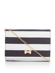 Ted Baker Stripey Evening Bag Black
