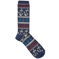 Anonymous Ism Anchor Jacquard Crew Sock Navy