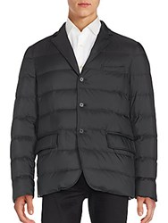 Ralph Lauren Quilted Three Button Jacket Polo Black