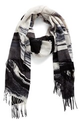 Nordstrom Women's Painted Dream Wool And Cashmere Scarf Grey Combo