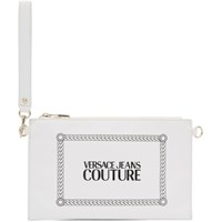 Versace Jeans Couture White Stamped Logo Pouch