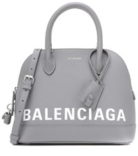 Balenciaga Ville S Leather Tote Grey