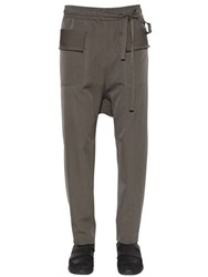 Damir Doma Distressed Wool Gabardine Cargo Pants