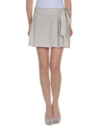 Hope Collection Knee Length Skirts Beige
