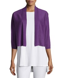 Eileen Fisher 3 4 Sleeve Kimono Cardigan Women's Bluebonnet