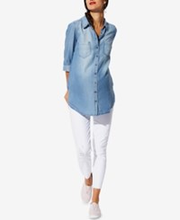 A Pea In The Pod Paige Denim Maternity Skinny Ankle Jeans Whiteout Destructed