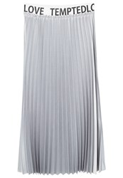 Mango Tempted Pleated Skirt Silver