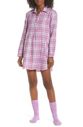 Ugg Sleep Shirt And Socks Set Lavender Aura Plaid