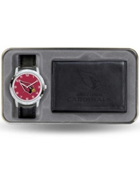 Rico Industries Arizona Cardinals Watch And Wallet Gift Set Black Team Color