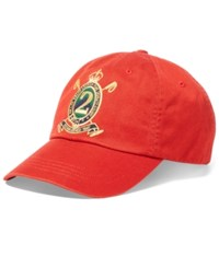 Polo Ralph Lauren Men's Twill Sports Cap Sportsman Orange