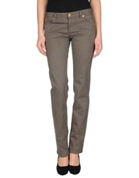 Siviglia White Casual Pants Dark Brown