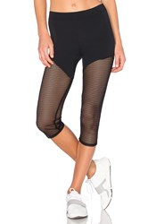 Solow Epic Mesh Capri Legging Black