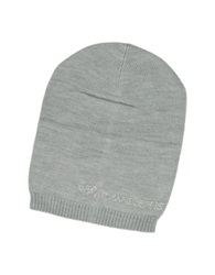 Armani Jeans Crystal Signature Wool Blend Hat Grey